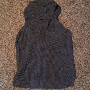 Max Studio Grey Sleeveless Sweater Tunic XL